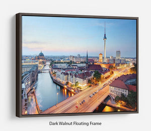 Berlin skyline Floating Frame Canvas