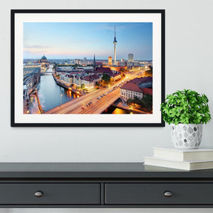 Berlin skyline Framed Print - Canvas Art Rocks - 1
