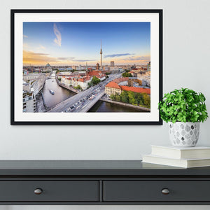 Berlin skyline on the Spree River Framed Print - Canvas Art Rocks - 1