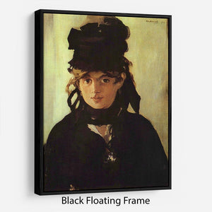 Berthe Morisot by Manet Floating Frame Canvas