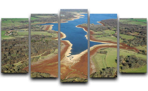 Bewl Water 5 Split Panel Canvas - Canvas Art Rocks - 1