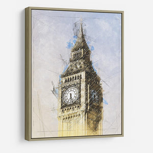 Big Ben Painting HD Metal Print