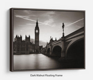Big Ben and House of Parliament dusk panorama Floating Frame Canvas