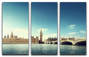 Big Ben in sunny day 3 Split Panel Canvas Print - Canvas Art Rocks - 1