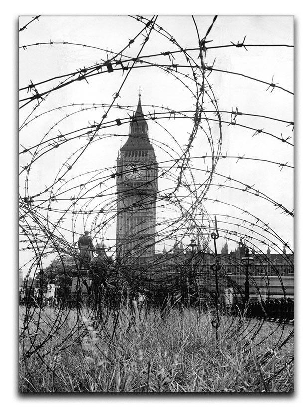 Big Ben through barbed wire Canvas Print or Poster