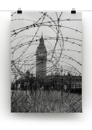 Big Ben through barbed wire Canvas Print or Poster - Canvas Art Rocks - 2
