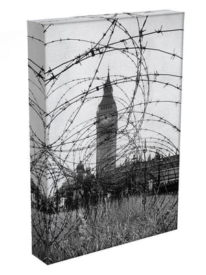 Big Ben through barbed wire Canvas Print or Poster - Canvas Art Rocks - 3