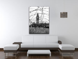 Big Ben through barbed wire Canvas Print or Poster - Canvas Art Rocks - 4
