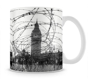 Big Ben through barbed wire Mug - Canvas Art Rocks - 1