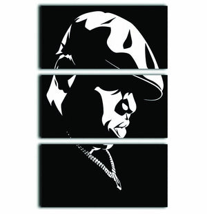 Biggie Smalls 3 Split Panel Canvas Print - Canvas Art Rocks - 1