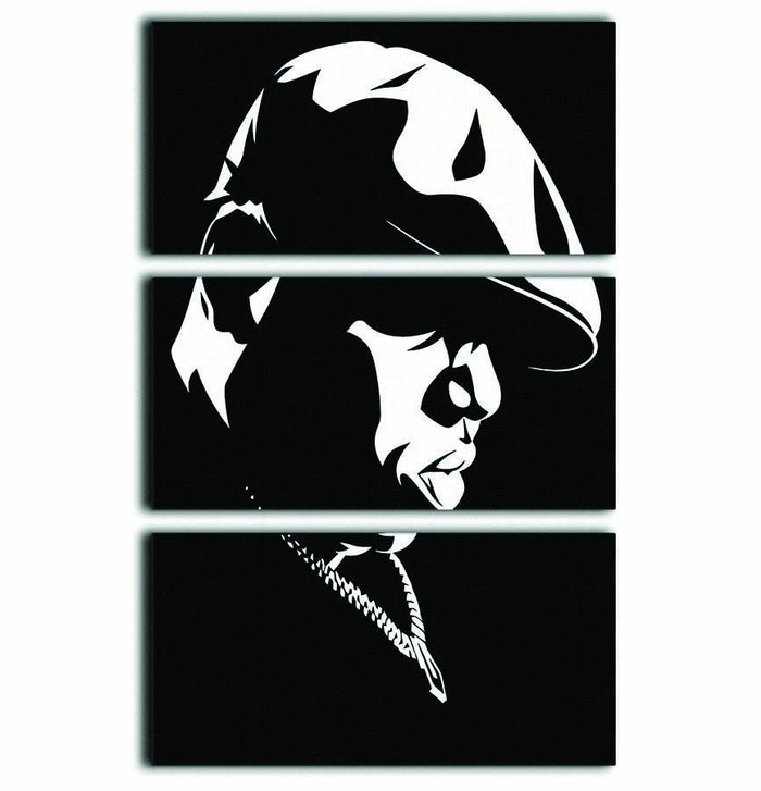 Biggie Smalls 3 Split Panel Canvas Print