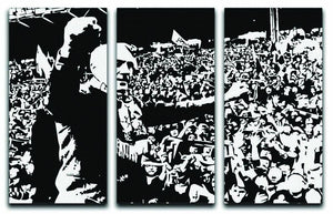 Bill Shankly 3 Split Panel Canvas Print - Canvas Art Rocks - 1