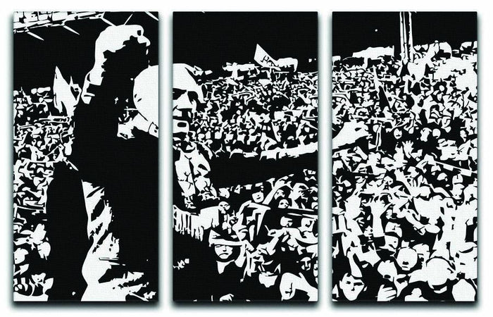 Bill Shankly 3 Split Panel Canvas Print