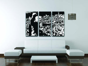 Bill Shankly 3 Split Panel Canvas Print - Canvas Art Rocks - 3