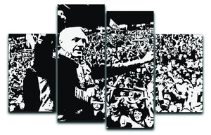 Bill Shankly 4 Split Panel Canvas  - Canvas Art Rocks - 1