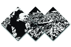Bill Shankly 4 Square Multi Panel Canvas  - Canvas Art Rocks - 1