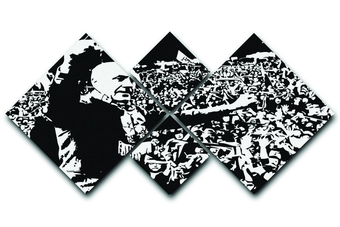 Bill Shankly 4 Square Multi Panel Canvas