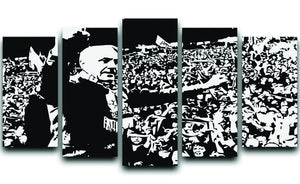 Bill Shankly 5 Split Panel Canvas  - Canvas Art Rocks - 1
