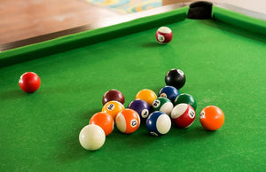 Billiard balls composition Wall Mural Wallpaper - Canvas Art Rocks - 1
