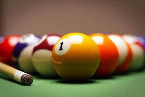 Billiard close up Wall Mural Wallpaper - Canvas Art Rocks - 1