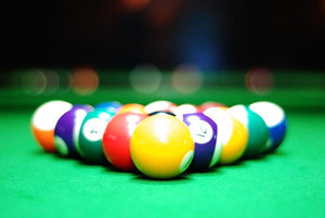 Billiards balls Wall Mural Wallpaper - Canvas Art Rocks - 1