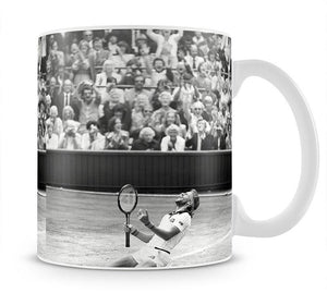 Bjorn Borg celebrates at Wimbledon Mug - Canvas Art Rocks - 1