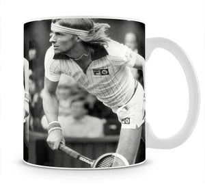 Bjorn Borg in action at Wimbledon Mug - Canvas Art Rocks - 1