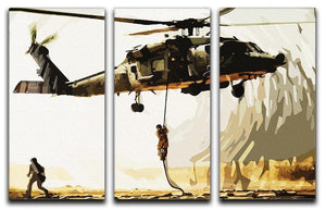 Black Hawk Down 3 Split Panel Canvas Print - Canvas Art Rocks - 4