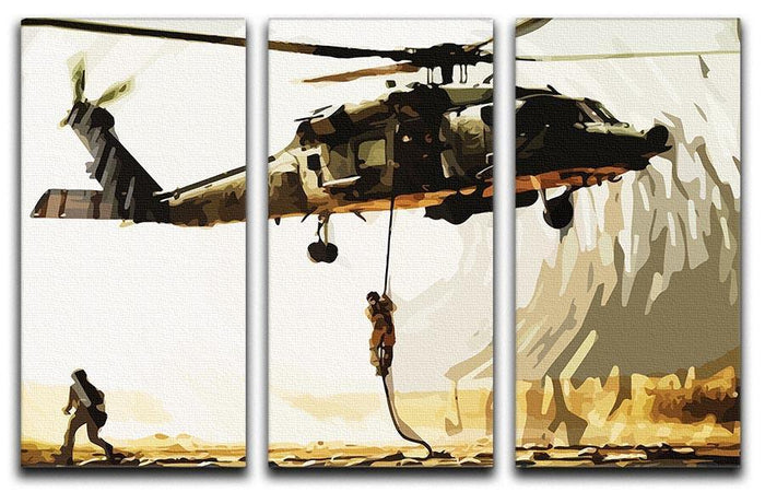 Black Hawk Down 3 Split Panel Canvas Print