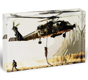 Black Hawk Down Acrylic Block - Canvas Art Rocks - 1
