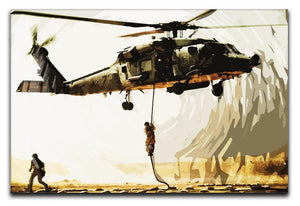 Black Hawk Down Print - Canvas Art Rocks - 1