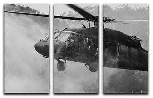 Black Hawk Helicopter 3 Split Panel Canvas Print - Canvas Art Rocks - 1
