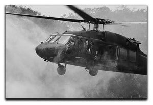 Black Hawk Helicopter Canvas Print or Poster  - Canvas Art Rocks - 1
