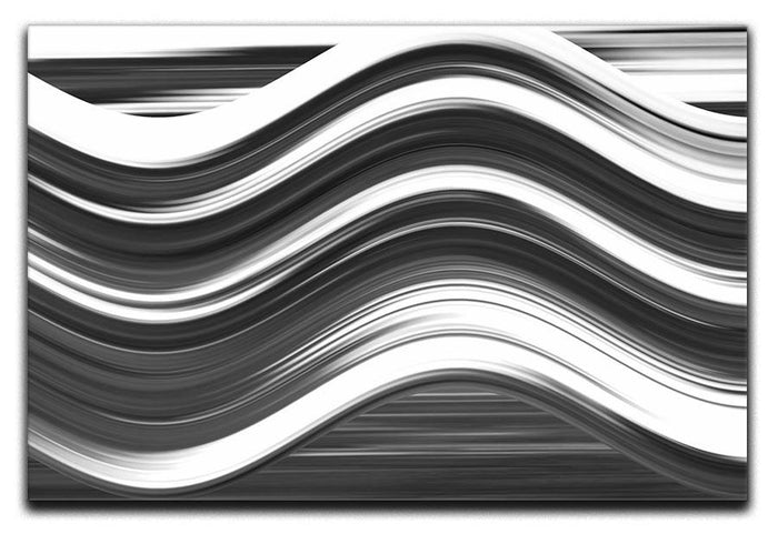 Black and White Wave Canvas Print or Poster