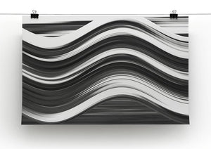 Black and White Wave Canvas Print or Poster - Canvas Art Rocks - 2