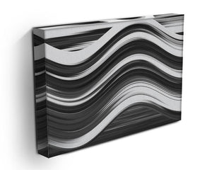 Black and White Wave Canvas Print or Poster - Canvas Art Rocks - 3