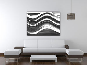Black and White Wave Canvas Print or Poster - Canvas Art Rocks - 4