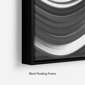 Black and White Wave Floating Frame Canvas - Canvas Art Rocks - 2