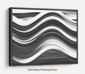 Black and White Wave Floating Frame Canvas - Canvas Art Rocks - 5