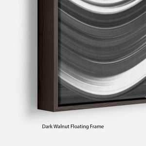 Black and White Wave Floating Frame Canvas - Canvas Art Rocks - 6