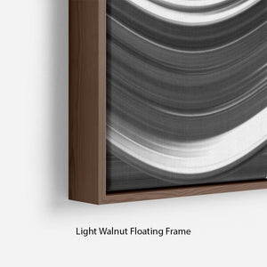Black and White Wave Floating Frame Canvas - Canvas Art Rocks - 8