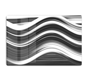 Black and White Wave HD Metal Print - Canvas Art Rocks - 1