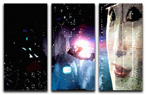 Blade Runner 3 Split Panel Canvas Print - Canvas Art Rocks - 1