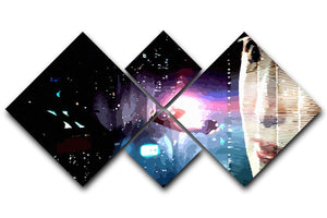 Blade Runner 4 Square Multi Panel Canvas  - Canvas Art Rocks - 1