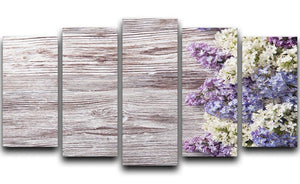 Blossom branch on wooden 5 Split Panel Canvas  - Canvas Art Rocks - 1