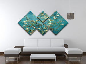 Blossoming Almond Tree by Van Gogh 4 Square Multi Panel Canvas - Canvas Art Rocks - 3