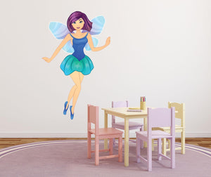 Blue Fairy Wall Sticker - Canvas Art Rocks - 1