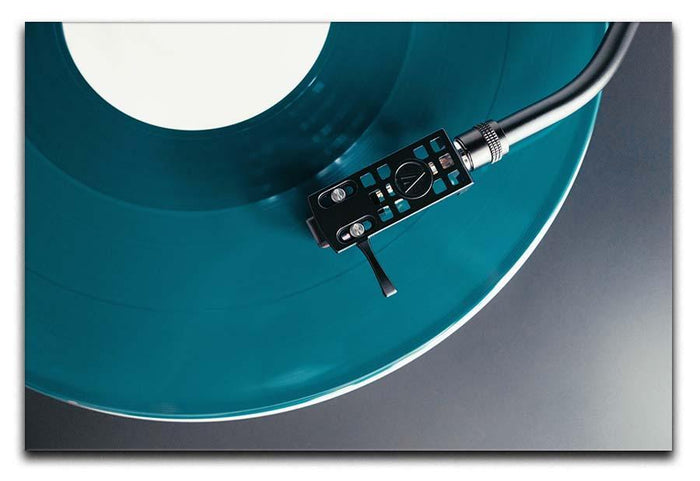 Blue Turntable Canvas Print or Poster