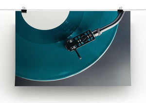 Blue Turntable Canvas Print or Poster - Canvas Art Rocks - 2