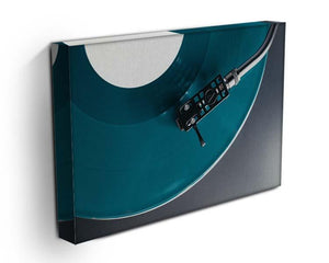 Blue Turntable Canvas Print or Poster - Canvas Art Rocks - 3